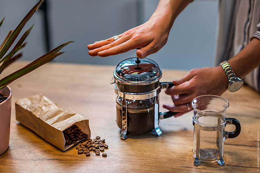 Kaffee French Press Kanne
